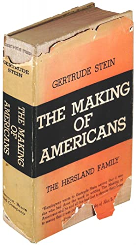 The Making of Americans: The Hersland Family: Stein, Gertrude; Preface