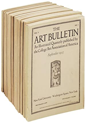 The Art Bulletin: 12 issues from 1924 - 1931