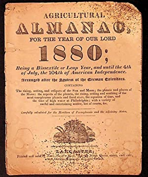 Agricultural Almanac for the Year of Our Lord 1880