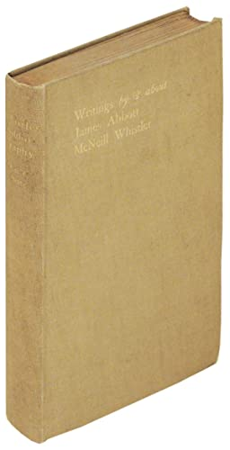 Writings by and About James Abbott McNeil Whistler. A Bibliography