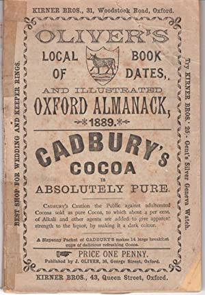 Oliver's Local Book of Dates, and Illustrated Oxford Almanack, 1889