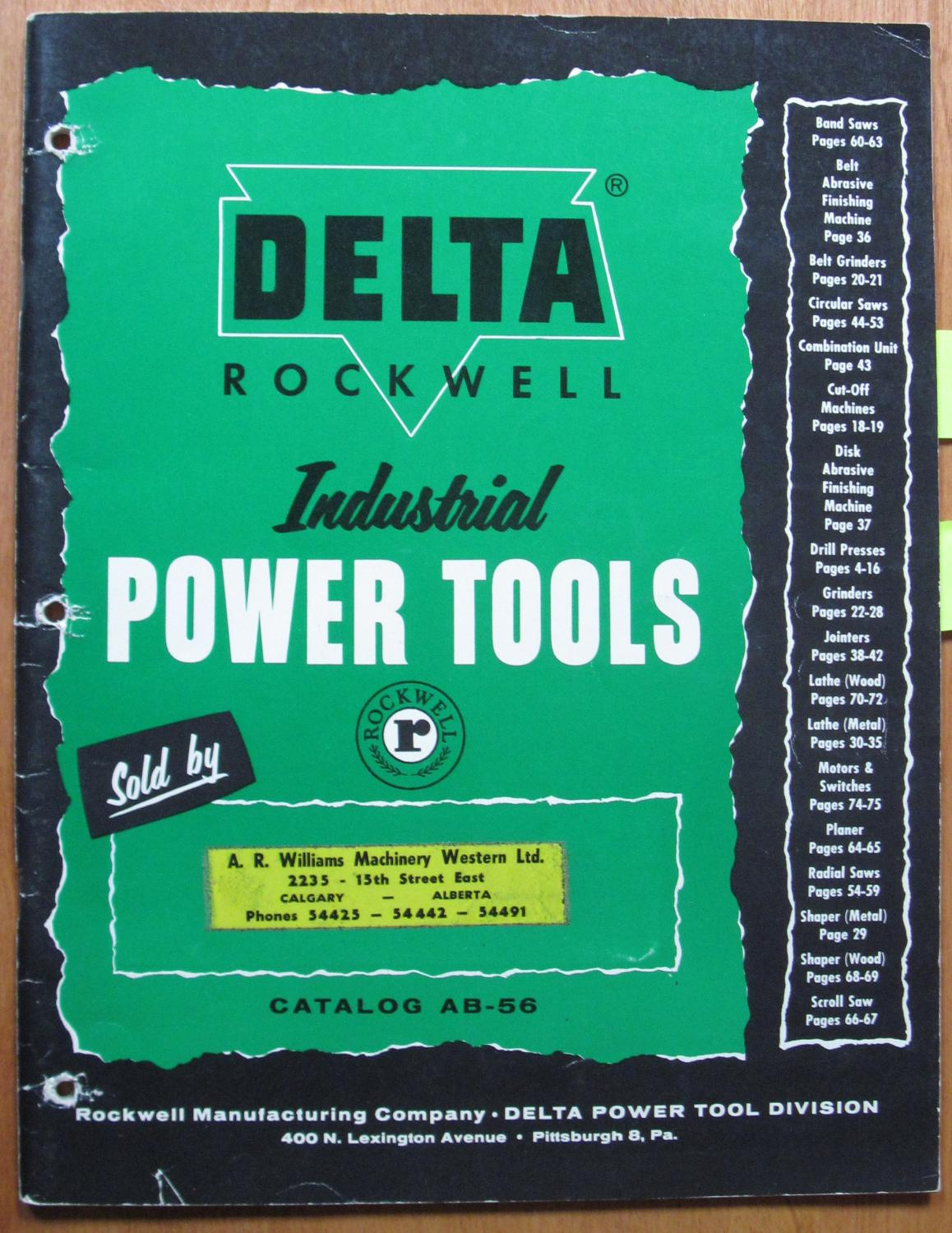Delta Rockwell Industrial Power Tools