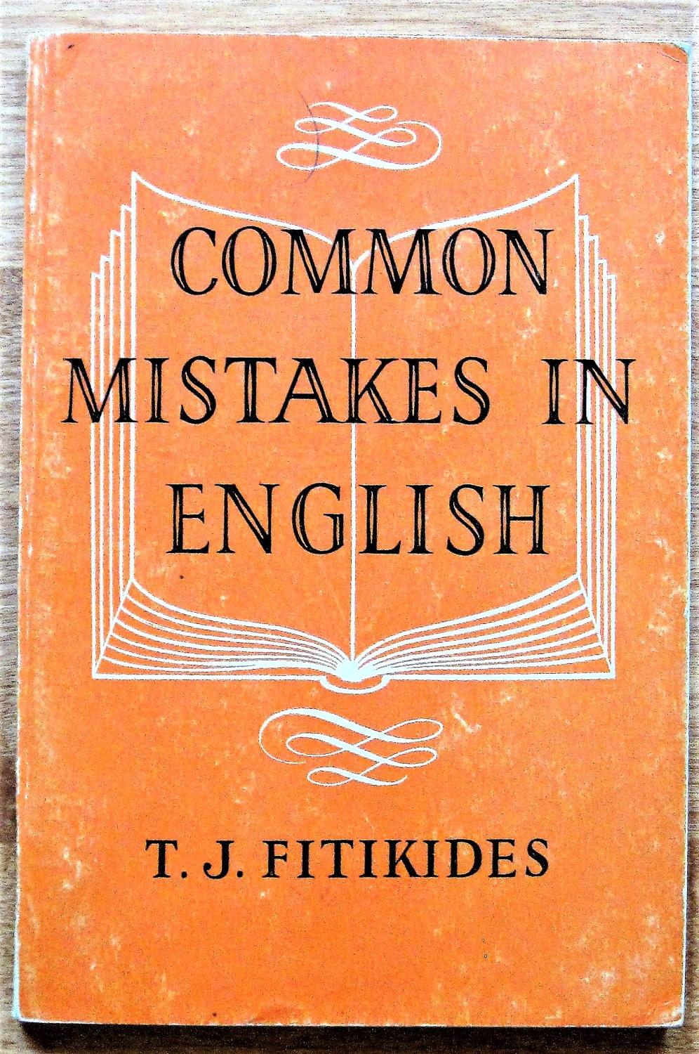 The Book Common Mistakes In English