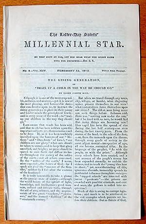 The Latter-Day Saints Millennial Star. March 15,: Richards, F.D., Editor