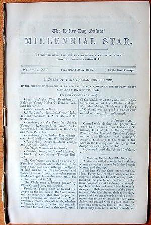 The Latter-Day Saints Millennial Star. February 1,: Richards, F.D., Editor