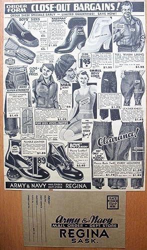 15th Anniversary Celebration. Army & Navy General Catalogue Fall & Winter, 1937-8.