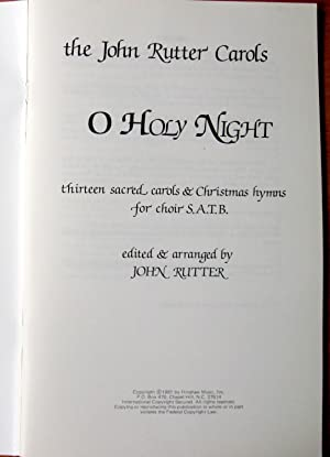 O Holy Night. Thirteen Sacred Carols &: Rutter, John, Editor
