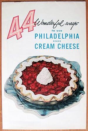 44 Wonderful Ways to Use Philadelphia Brand Cream Cheese: Vintage Brochure.
