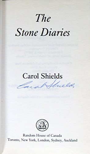 The Stone Diaries. Signed Copy