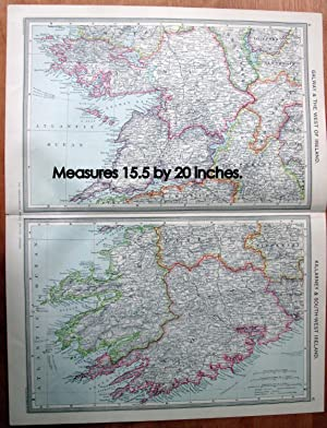 Antique Map - Galway and the West of Ireland and Killarney and South-West Ireland.