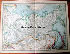 Antique Map - Asiatic Russia and the Siberian Railway.