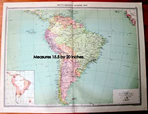 Antique Map - South America General Map.