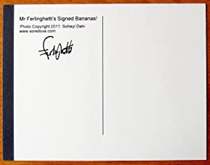 Signed Bananas Card.: Signed By Lawrence