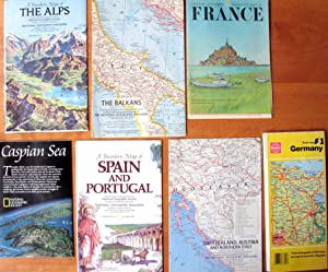 Maps: Europe. Lot of 12