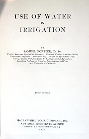 Use of Water in Irrigation