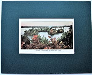 Vintage Print. Among the Thousand Islands St. Lawrence River, Canada