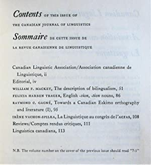 Towards a Canadian Eskimo Arthography and Literature. Essay in The Canadian Journal of Linguistic...