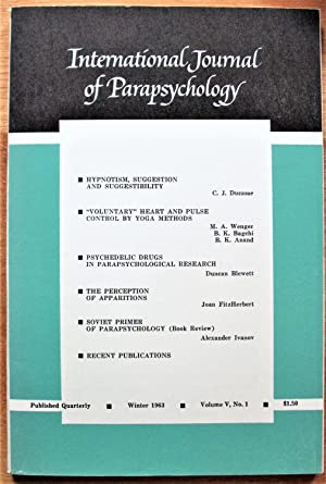 Psychedelic Drugs in Parapsychological Research. Essay in: Blewett, Duncan