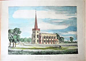 Antique Lithograph: Frenchay Church: Engraved By J.S.