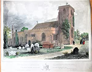 Antique Lithograph: Henbury Church, Gloucestershire: Drawing By M.H.