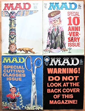 Mad Magazine. 4 Issues From 1962. Includes: Nos. 72 July, 73 September, 74 October, and 75 December
