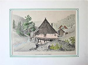Antique Lithographs: Set of Two- Landscape Studies: Fr. Lederle