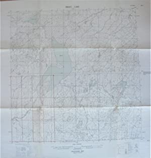 Fold-Out Topographical Survey Map. Trout Lake, Northwest Territories