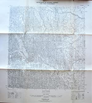 Fold-Out Topographical Survey Map. Root River, Northwest Territories