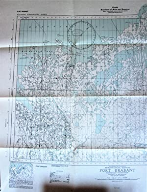 Fold-Out Topographical Survey Map. Port Brabant Northwest Territories (District of Mackenzie). Ae...
