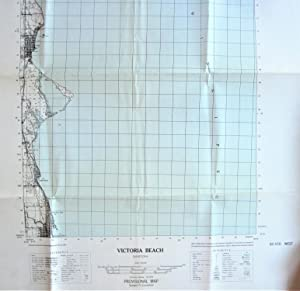 Fold-Out Topographical Survey Map. Victoria Beach, Manitoba