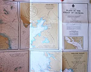 Fold-Out Hydrographical Colour Map. Plans in the Strait of Georgia, British Columbia