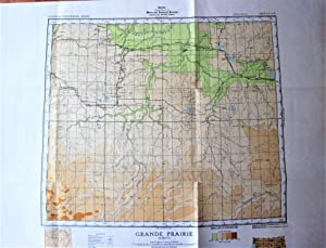Fold-Out Topographical Survey Map in Co Lour. Sheet 83 N.W. Grande Prairie, Alberta