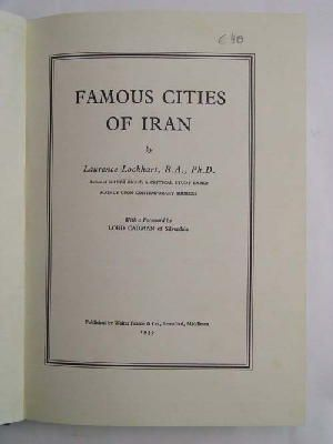Famous cities of Iran: Laurence Lockhart