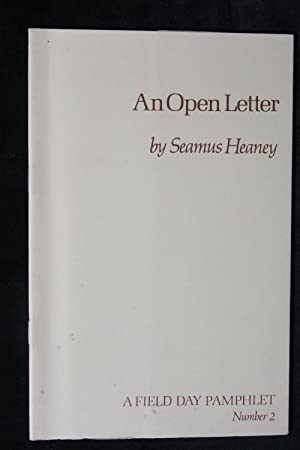 An Open Letter: Seamus Heaney