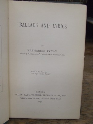 Ballads and Lyrics: Katherine Tynan