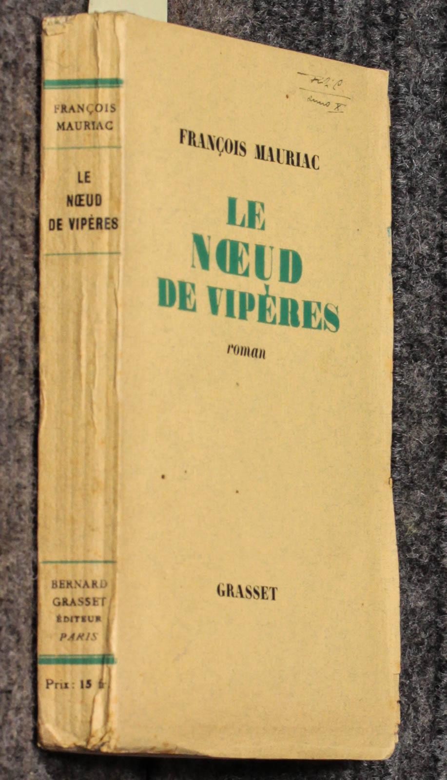 Le Noeud De Viperes [limited Edition] Francois Mauriac