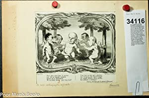 """ORIGINAL DAUMIER LITHOGRAPH 'IDYLLES PARLEMENTAIRES' 13.5 X 10.25"""" CA 1850: Honore ..."""