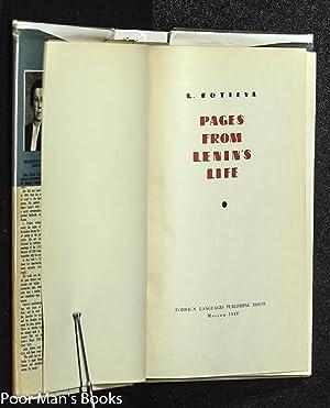 PAGES FROM LENIN'S LIFE: Fotieva, L.