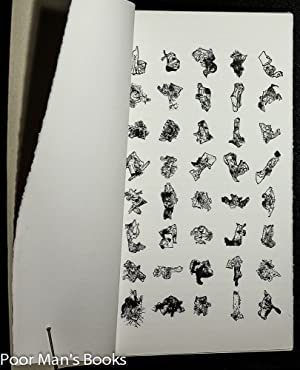 EXEGESIS: A HANDBOUND BROADSIDE OF FORTY DAVID OLIVANT INK DRAWINGS [SIGNED]: Olivant, David