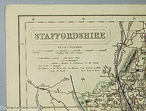 STAFFORDSHIRE. [LINEN MAP]: J. & C. Walker.
