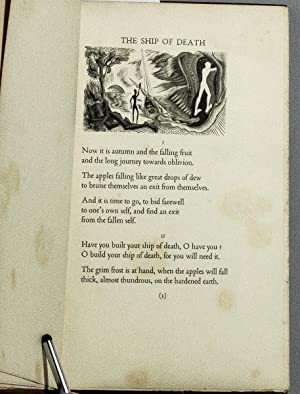 THE SHIP OF DEATH AND OTHER POEMS. WITH WOOD ENGRAVINGS BY BLAIR HUGHES-STANTON.S: D. H Lawrence