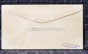 USS AMERICAN LEGION NAVAL CACHET ADDRESSED TO FRANKLIN D ROOSEVELT FROM HIS STAMP COLLECTION: ...