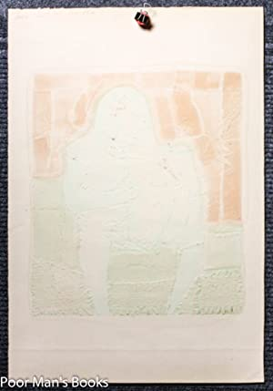 """SEATED WARRIOR."""" ABSTRACT COLOR PRINT. PROOF, SIGNED: Pollaro, Paul [1921-]"""