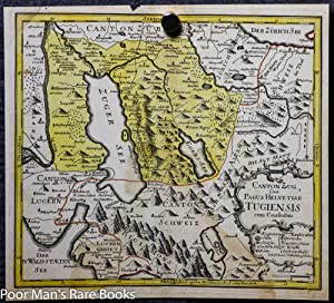 POST INCUNABLE MAP OF SWITZERLAND. COLOR.: Unknown