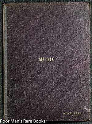 VOLUME OF SHEET MUSIC FROM THE 1800'S: Various