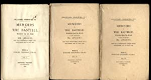 MEMOIRS OF THE BASTILLE [COMPLETE IN 3 VOLUMES]: Mr Linguet; edited by Edmund Goldsmid