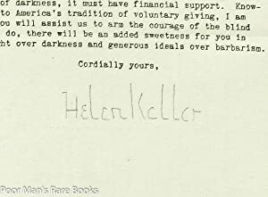 helen keller signed abebooks vintage typed signed helen keller letter helen keller