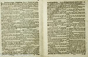 Saur Gun Wad Bible 1st Of Native American Materials Including Type [4 Pages 1776]: Various