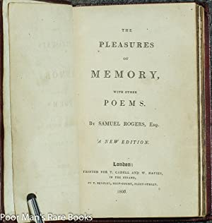 The Pleasures Of Memory, With Other Poems [illustrated]: Rogers, Samuel