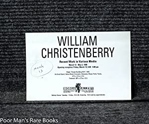 William Christenberry (signed And Inscribed]: Christenberry, William